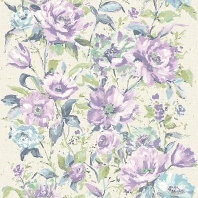 Carta da parati fiore lilla 10 m prezzi e offerte online for Parati moderni leroy merlin