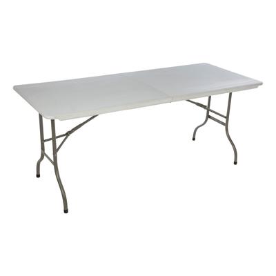 Tavolo Pieghevole 180 X 75 Cm Bianco Prezzi E Offerte Online Leroy