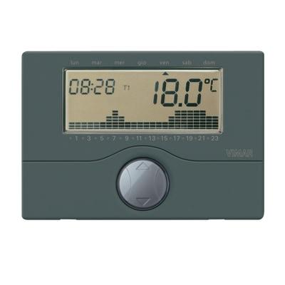 Cronotermostato vimar a batteria parete for Programmazione cronotermostato vimar 01910