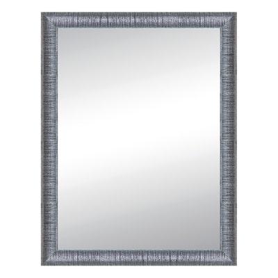 Specchio da parete rettangolare sibilla argento 70 x 90 cm - Specchio rettangolare da parete ...