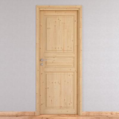 Porta da interno battente beethoven grezza 70 x h 210 cm - Porta a soffietto leroy merlin ...