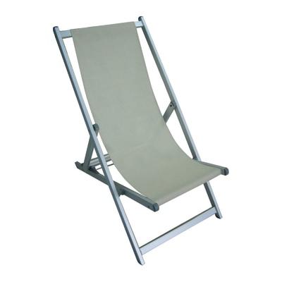 Sedie Sdraio Pieghevoli Alluminio.Sdraio Pieghevole In Alluminio Colore Ecru Prezzo Online Leroy Merlin