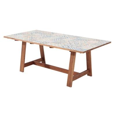 Tavolo da pranzo per giardino rettangolare soho in legno l for Offerte tavoli da giardino leroy merlin