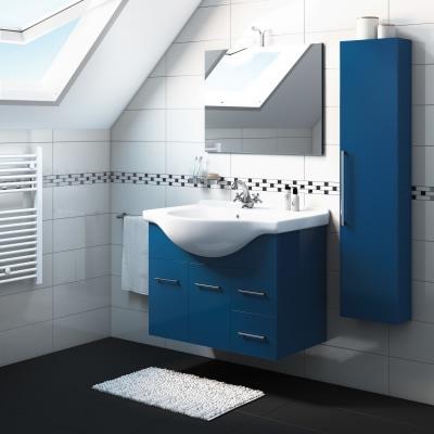 Mobile bagno ginevra blu notte l 86 cm prezzi e offerte for Mobile bagno blu