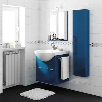 Mobile bagno ginevra blu notte l 56 5 cm prezzi e offerte for Mobile bagno blu