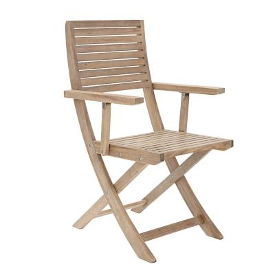 Sedie Pieghevoli Legno Leroy Merlin.Sedia Con Braccioli Pieghevole In Legno Naterial Colore Naturale