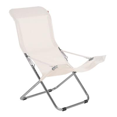 Sedia a sdraio pieghevole comfort in metallo beige prezzi for Sdraio leroy merlin