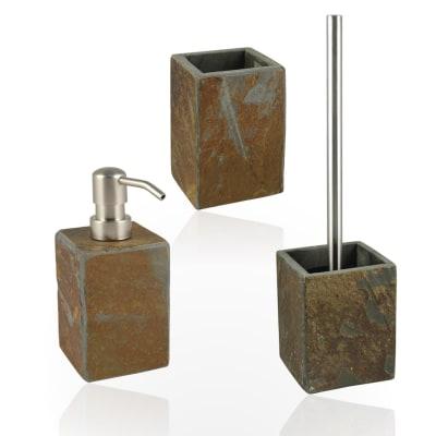 Accessori Bagno In Pietra.Set Di Accessori Per Bagno Heavy Ruggine In Pietra 3 Pezzi Prezzo Online Leroy Merlin