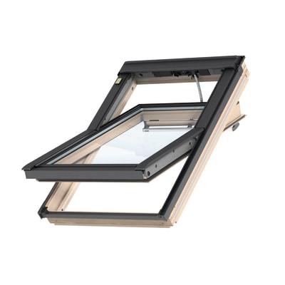 Finestra da tetto velux ggl uk04 308621 elettrico l 134 x for Velux tetto in legno