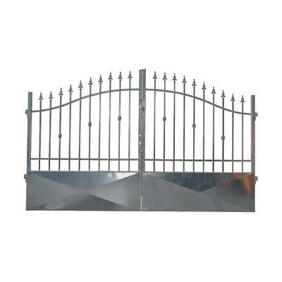 Dimensioni Cancello A Due Ante.Cancello Stromboli In Ferro Zincato L 400 X H 150 180 Cm Prezzi