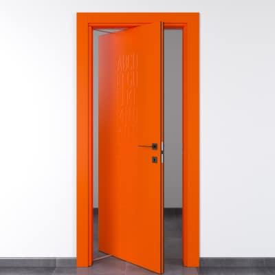 Porta da interno rototraslante Keyboard orange arancio 70 x H 210 cm sx