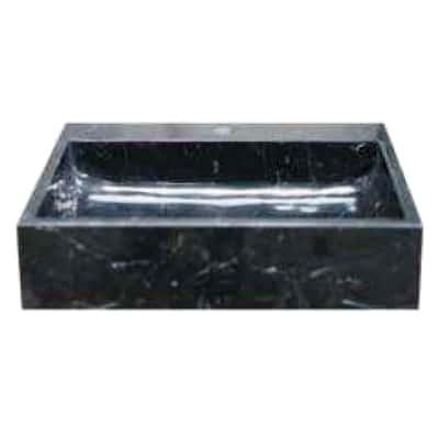 Lavabo da appoggio rettangolare L 50 x P 45 x H  12 cm