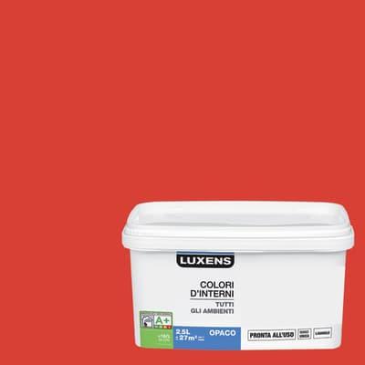 Idropittura lavabile Mano unica Rosso Rosso 4 - 2,5 L Luxens