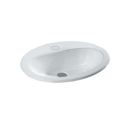 Lavabo da appoggio ovale L 62 x P 52 x H  20 cm
