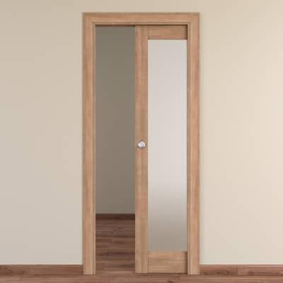 Porta da interno scorrevole Spica grano 80 x H 210 cm reversibile