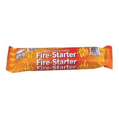 Mini tronchetto accendifuoco Fire starter di legna e paraffina 24 pezzi