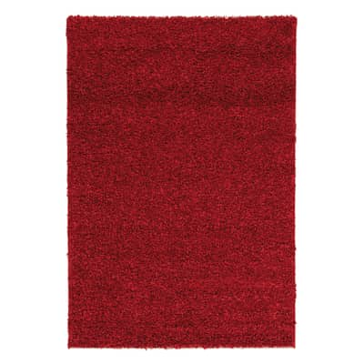 Tappeto Curly tender rosso 150 x 220 cm