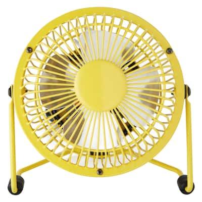 Mini ventilatore Equation Lara giallo