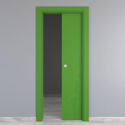 Porta da interno scorrevole Blades green verde 80 x H 210 cm reversibile