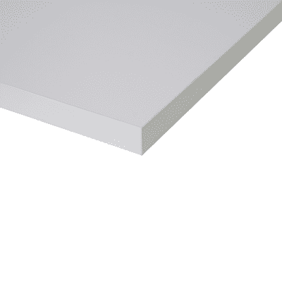 Piano cucina su misura laminato Luna bianco 4 cm