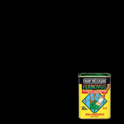 Smalto per ferro antiruggine Saratoga Fernovus nero satinato 0,75 L