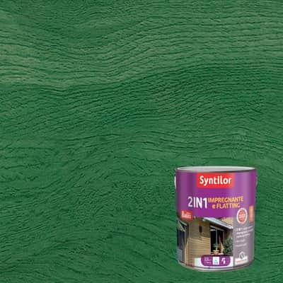Impregnante e flatting 2 in 1 ad acqua 8 anni Syntilor verde brillante 2,5 L