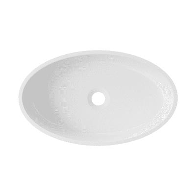 Lavabo da appoggio ovale Siena L 50 x P 12 x H  30 cm