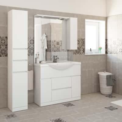 Mobile bagno Elise bianco L 100 cm