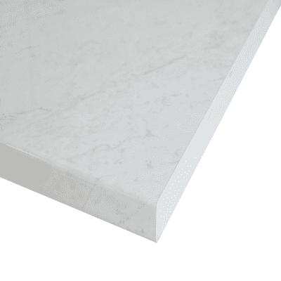 Piano cucina su misura laminato Marmo Apuano bianco 4 cm