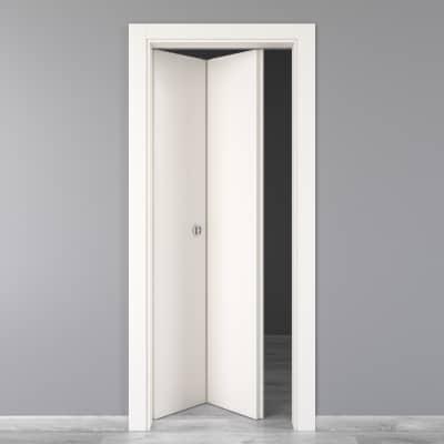 Porta da interno pieghevole Moma laccato bianco 80 x H 210 cm sx