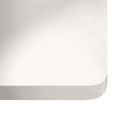 Alzatina su misura Zeus quarzo bianco H 6 cm