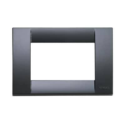 Placca 3 moduli Vimar Idea grigio grafite