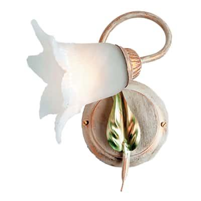 Applique Mirella eco avorio L 18 x H 26 cm
