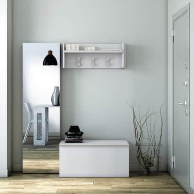Appendiabiti Per Ingresso.Appendiabiti Ingresso In Kit Bianco L 90 X P 28 X H 34 Cm Prezzi E