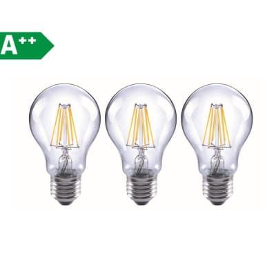 3 lampadine led lexman filamento e27 60w goccia luce for Lampadine led online