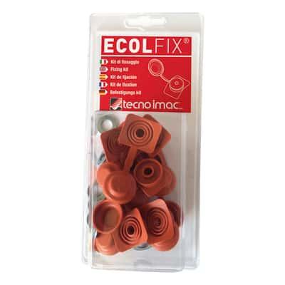 Copriviti Ecolfix terracotta, confezione da 10 pezzi