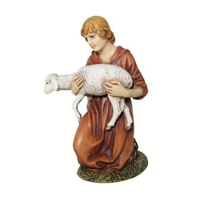 Pastore con agnello H 10 cm