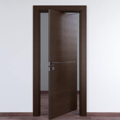Porta da interno rototraslante Wright Fumo 70 x H 210 cm dx