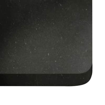 Alzatina su misura Merope quarzo grigio scuro H 6 cm