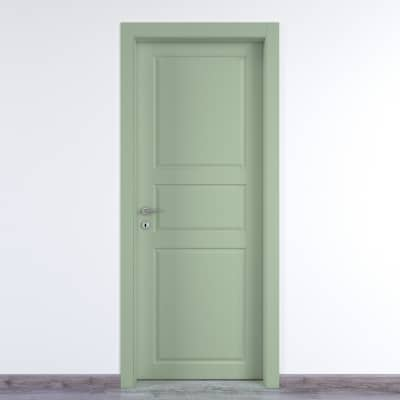 Porta da interno battente New York verde 60 x H 210 cm dx