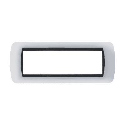 Placca 7 moduli BTicino Living International cromo lucido
