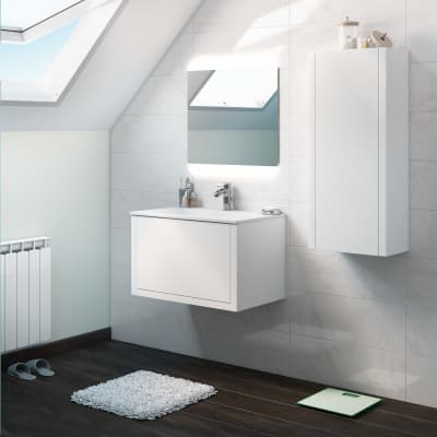 Mobile bagno Roxanne bianco L 74 cm