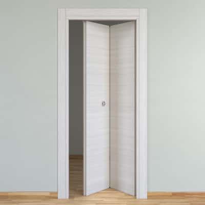 Porta da interno pieghevole Pigalle palissandro bianco 70 x H 210 cm dx