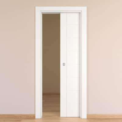 Porta da interno scorrevole Chamberì bianco 70 x H 210 cm reversibile