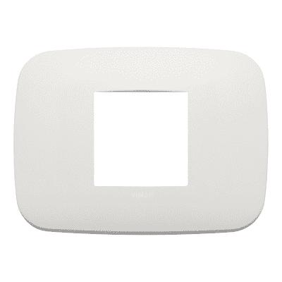 Placca 2 moduli Vimar Arké perla matt