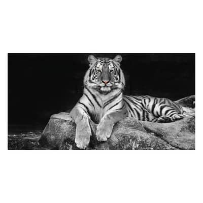 Quadro su tela glitter wow tiger 145x75 prezzi e offerte for Leroy merlin quadri tela