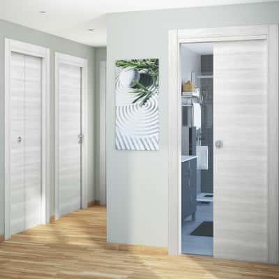 Porta da interno battente pigalle palissandro bianco 80 x for Porte interne leroy merlin