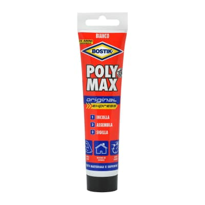Colla per fissaggio e sigillature poly max express 165 gr Bostik 165 g