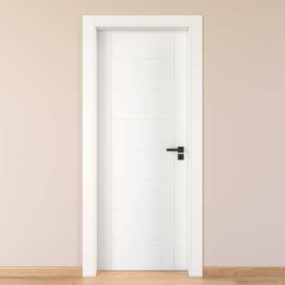 Porta da interno battente Chamberì bianco 90 x H 210 cm sx