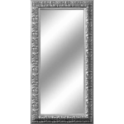 Specchio da parete rettangolare barocco argento 65 x 165 for Specchio barocco argento